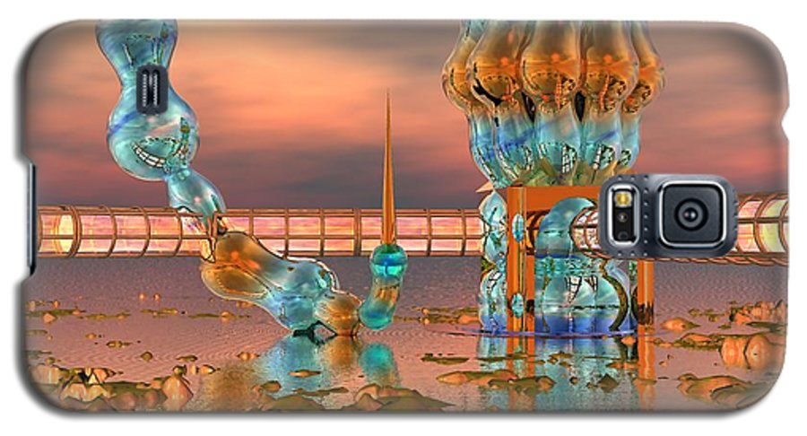 Landscape Galaxy S5 Case featuring the digital art On Vacation by Dave Martsolf
