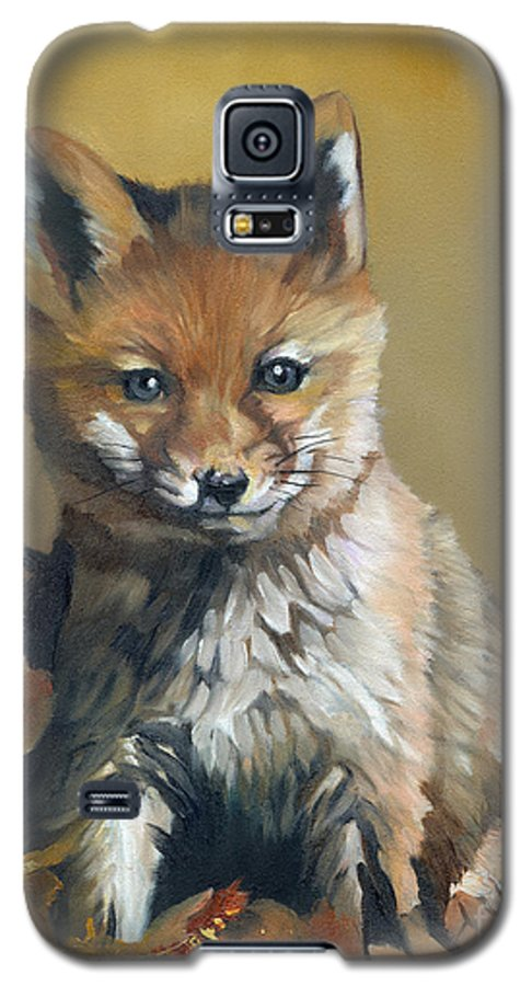 Fox Galaxy S5 Case featuring the painting Once Upon A Time by J W Baker