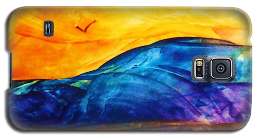Landscape Galaxy S5 Case featuring the painting One Fine Day by Melinda Etzold