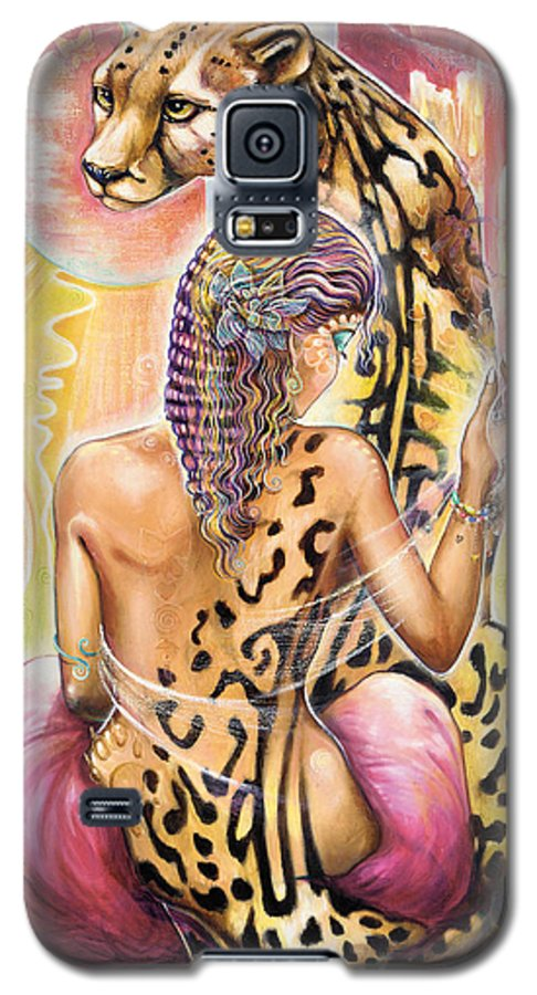 Animals Galaxy S5 Case featuring the painting Oneness by Blaze Warrender