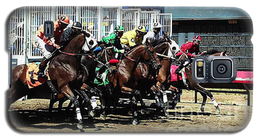 Horse Galaxy S5 Case featuring the photograph Only A Mile To Go by Kathy McClure