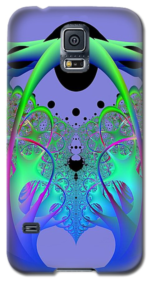 Fractal Galaxy S5 Case featuring the digital art Oodle World by Frederic Durville