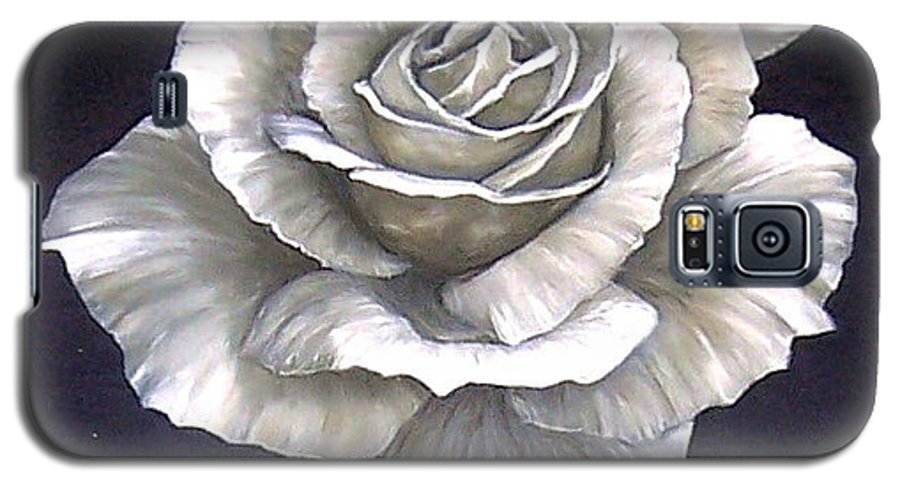 Rose Flower Galaxy S5 Case featuring the painting Opened Rose by Natalia Tejera