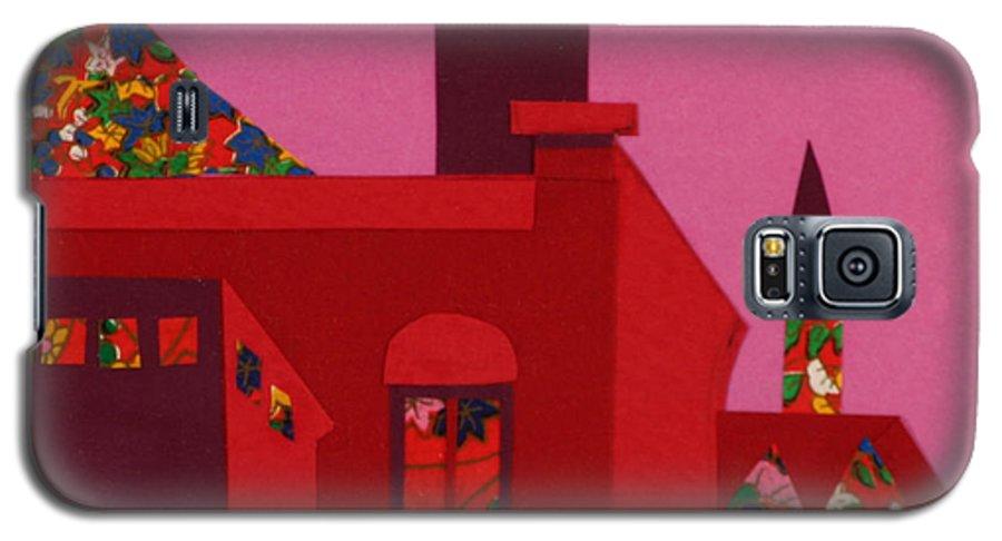 Opera House Galaxy S5 Case featuring the mixed media Opera House by Debra Bretton Robinson