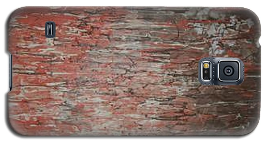 Abstract Galaxy S5 Case featuring the painting Orange Crush by Elizabeth Klecker