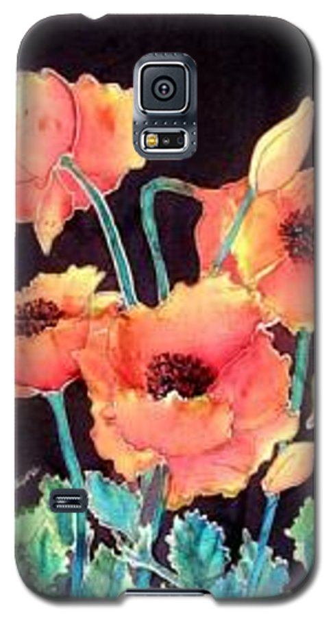Poppies Galaxy S5 Case featuring the painting Orange Poppies by Francine Dufour Jones