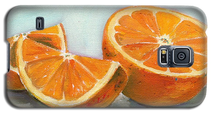 Oil Galaxy S5 Case featuring the painting Orange by Sarah Lynch