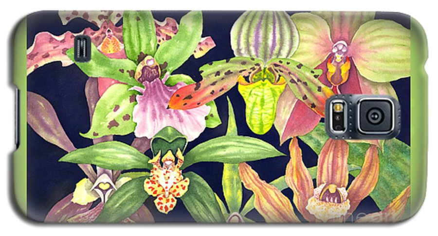 Orchids Galaxy S5 Case featuring the painting Orchids by Lucy Arnold