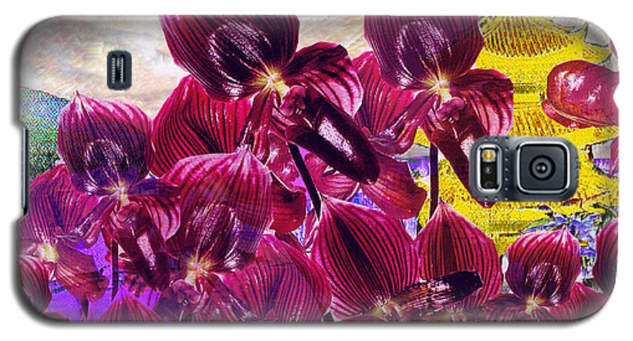 Far East Galaxy S5 Case featuring the digital art Oriental Orchid Garden by Seth Weaver