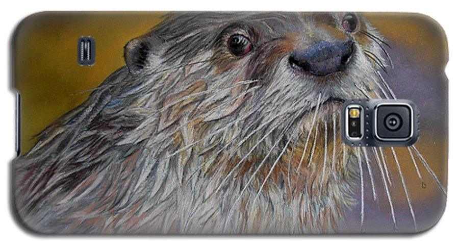 River Otter Galaxy S5 Case featuring the painting Otter Or Not by Ceci Watson
