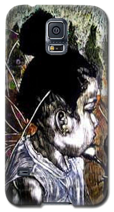 Fantasy Galaxy S5 Case featuring the mixed media Our Farie Princess by Chester Elmore