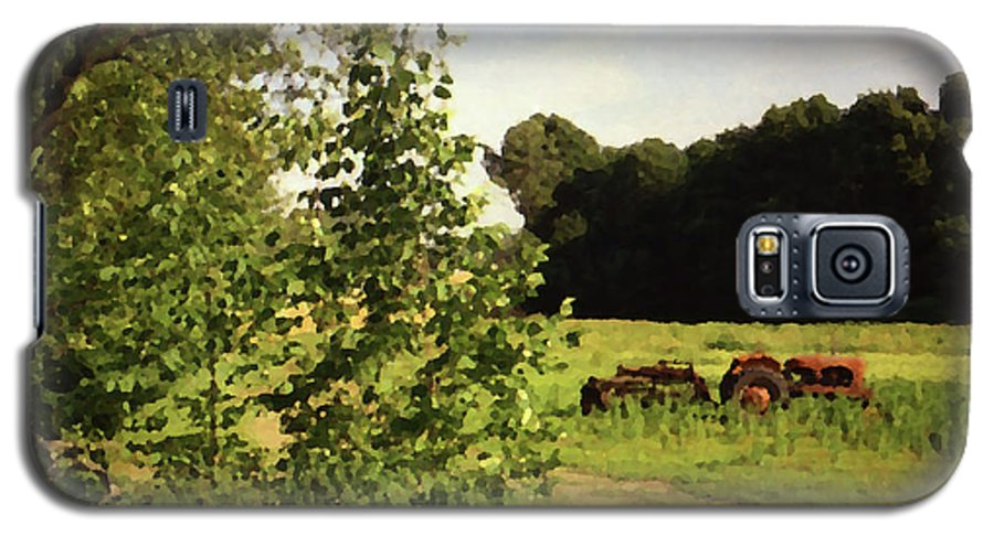 Farming Galaxy S5 Case featuring the photograph Out In The Fields by Geoff Jewett