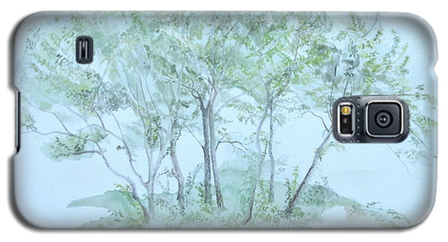 Trees Galaxy S5 Case featuring the painting Outer Banks by Leah Tomaino