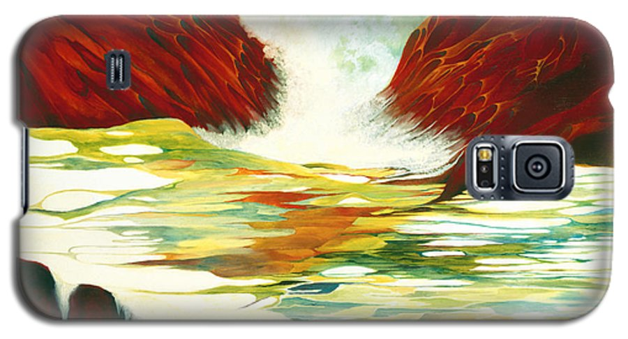 Oil Galaxy S5 Case featuring the painting Overflowing by Peggy Guichu