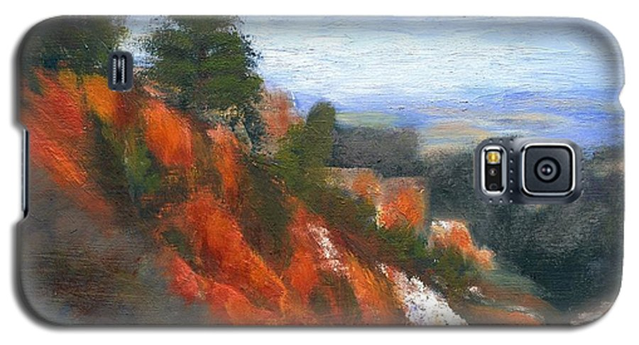 Southwest Galaxy S5 Case featuring the painting Overlook by Gail Kirtz
