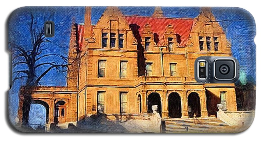 Architecture Galaxy S5 Case featuring the digital art Pabst Mansion by Anita Burgermeister