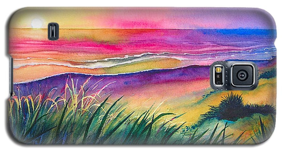 Pacific Galaxy S5 Case featuring the painting Pacific Evening by Karen Stark