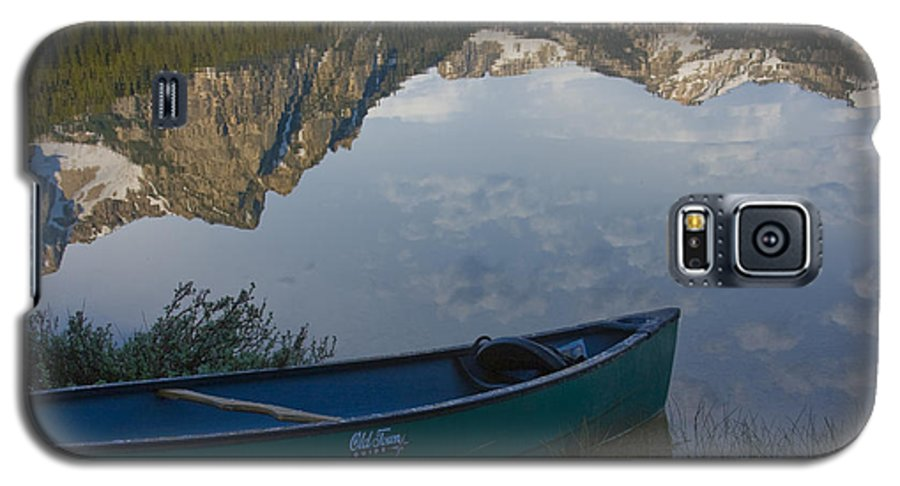 Canoe Galaxy S5 Case featuring the photograph Paddle To The Mountains by Idaho Scenic Images Linda Lantzy