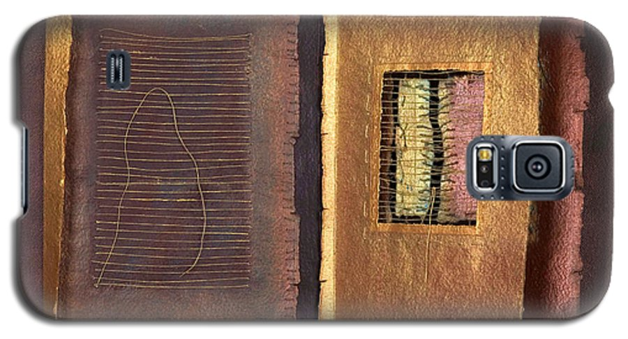 Pageformat Galaxy S5 Case featuring the painting Page Format No 2 Transitional Series by Kerryn Madsen-Pietsch
