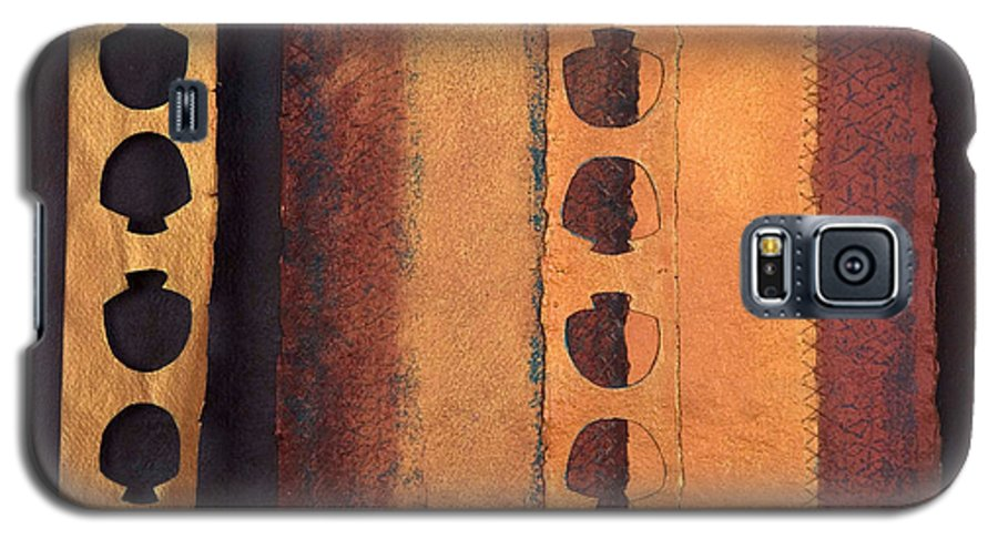 Pageformat Galaxy S5 Case featuring the mixed media Page Format No 3 Tansitional Series  by Kerryn Madsen-Pietsch