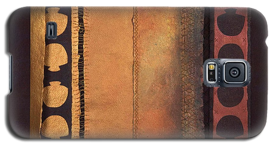 Artistbook Galaxy S5 Case featuring the painting Page Format No.4 Tansitional Series by Kerryn Madsen-Pietsch