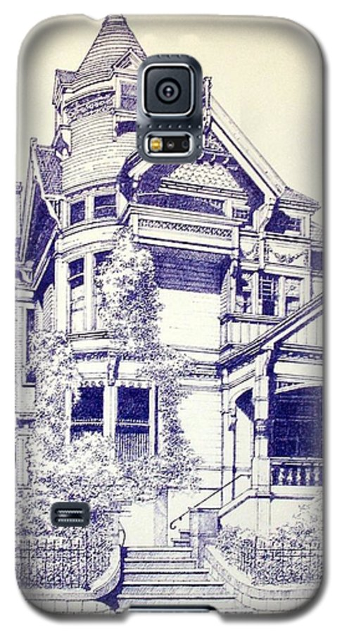 Victorian Mansions Houses Architecture Homessan Francisco Galaxy S5 Case featuring the painting Painted Lady by Tony Ruggiero