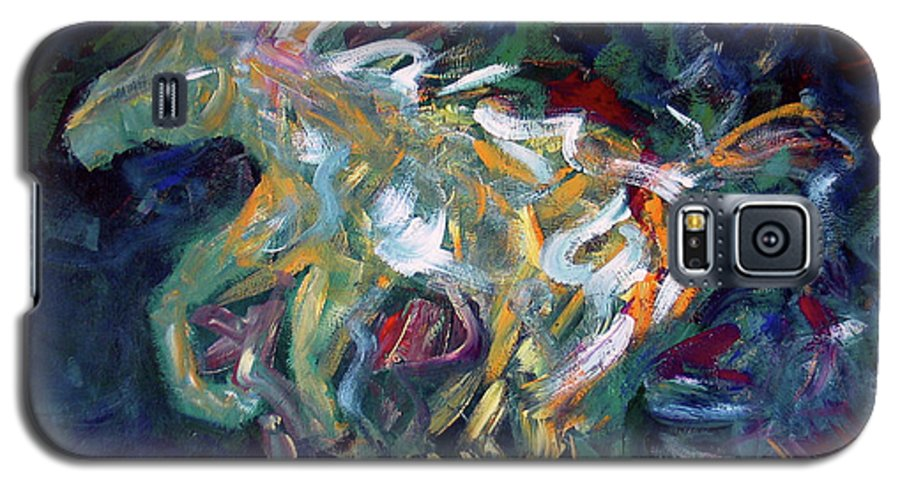 Abstract Horse Galaxy S5 Case featuring the painting Painted Pony by Lance Headlee