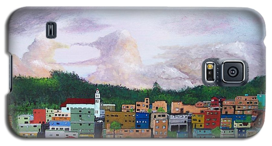 Painting The Town Galaxy S5 Case featuring the painting Painting The Town by Tony Rodriguez