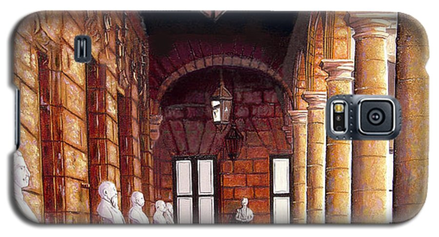 Cuban Art Galaxy S5 Case featuring the painting Palacio by Jose Manuel Abraham