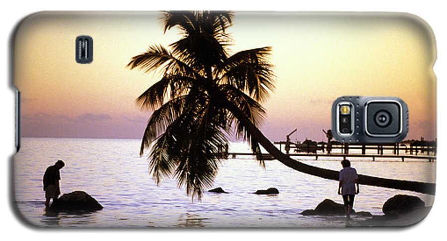 Sunset Galaxy S5 Case featuring the photograph Palm At The Moorings by Carl Purcell