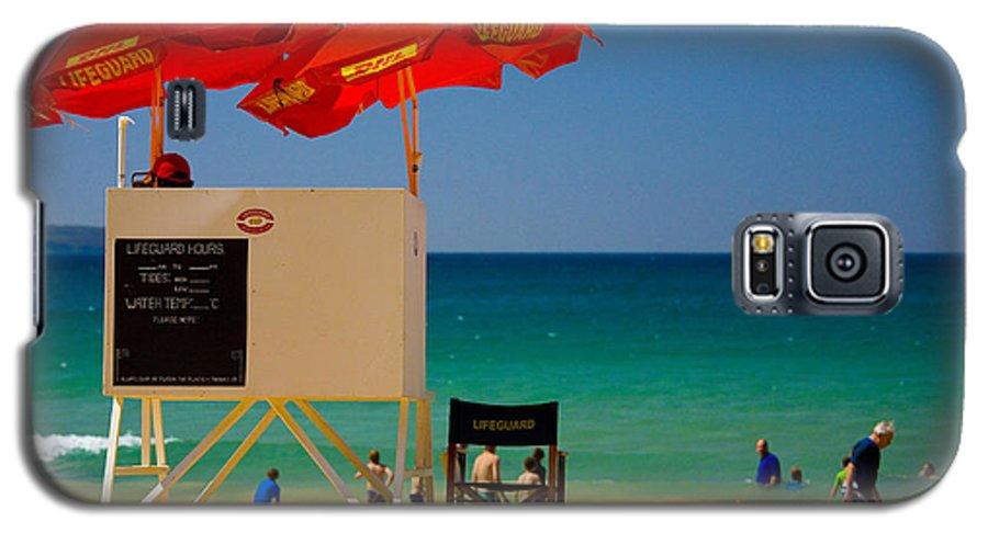 Palm Beach Sun Sea Sky Beach Umbrellas Galaxy S5 Case featuring the photograph Palm Beach Dreaming by Sheila Smart Fine Art Photography