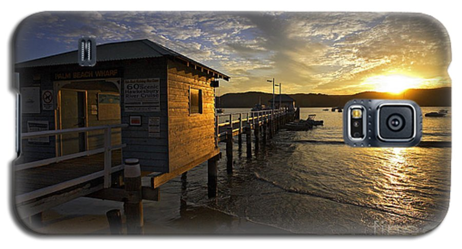 Palm Beach Sydney Australia Sunset Water Pittwater Galaxy S5 Case featuring the photograph Palm Beach Sunset by Avalon Fine Art Photography