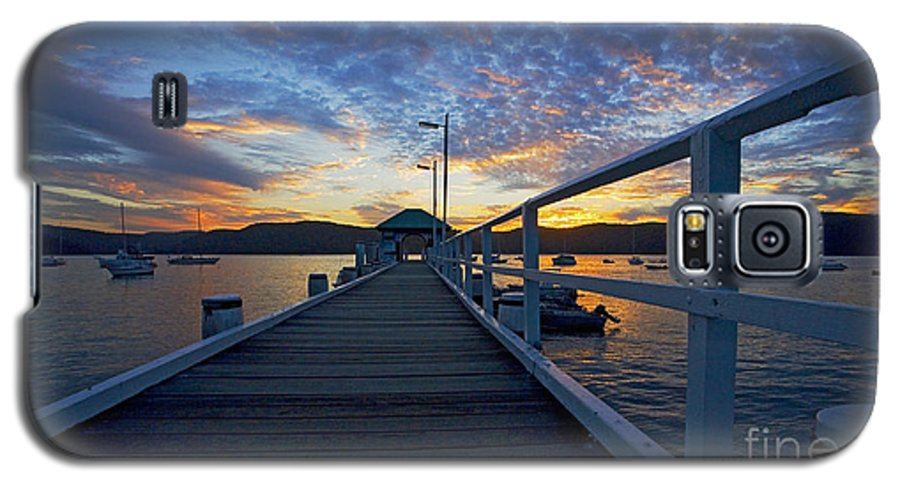 Palm Beach Sydney Wharf Sunset Dusk Water Pittwater Galaxy S5 Case featuring the photograph Palm Beach Wharf At Dusk by Avalon Fine Art Photography