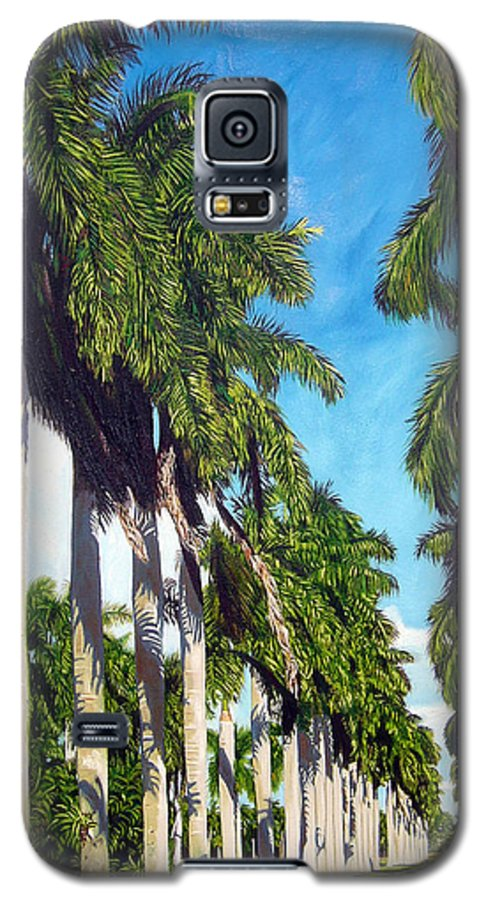 Palms Galaxy S5 Case featuring the painting Palms by Jose Manuel Abraham