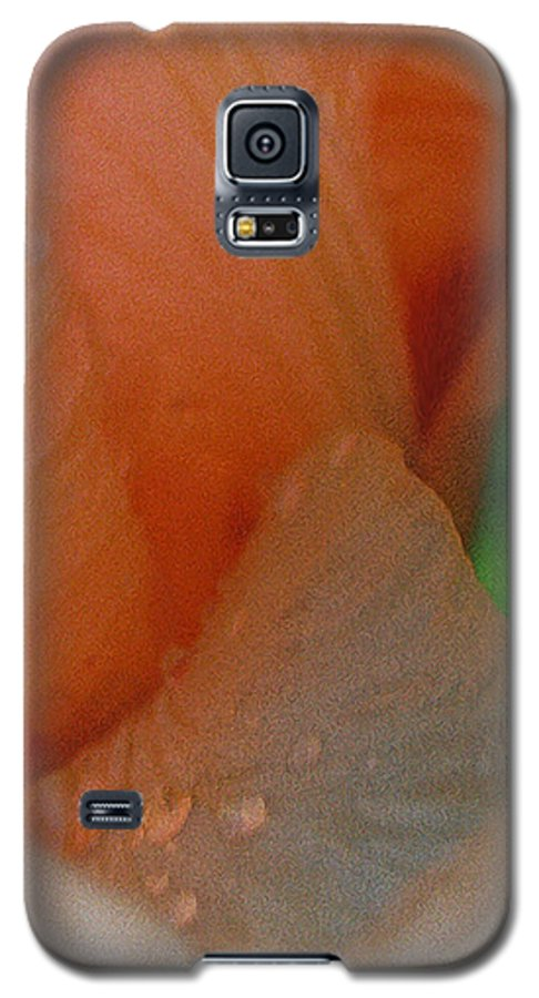 Abstract Galaxy S5 Case featuring the photograph Panel One From Iris by Steve Karol