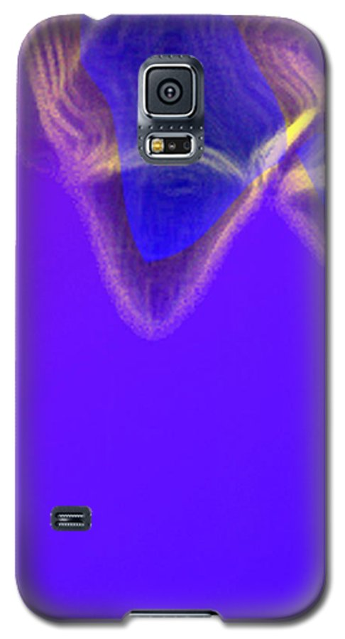 Abstract Galaxy S5 Case featuring the digital art Panel One From Movement In Blue by Steve Karol