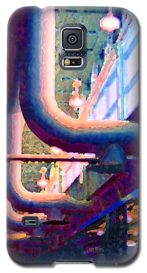 Abstract Galaxy S5 Case featuring the photograph panel one from Star Factory by Steve Karol