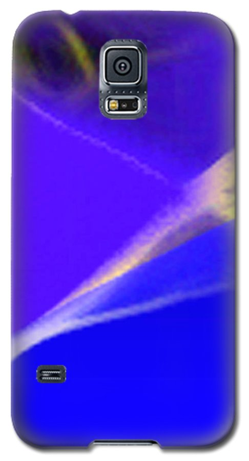 Abstract Galaxy S5 Case featuring the digital art panel three from Movement in Blue by Steve Karol