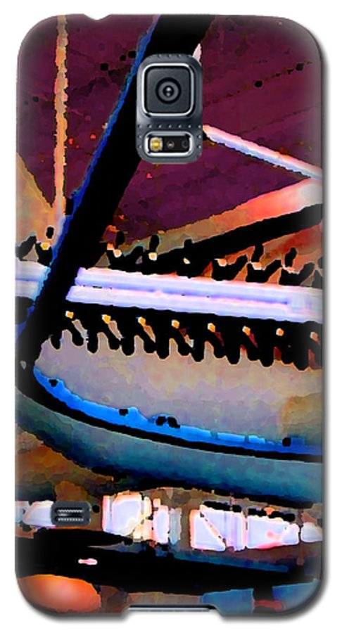 Abstract Galaxy S5 Case featuring the photograph Panel Three From Star Factory by Steve Karol