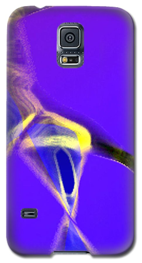 Abstract Galaxy S5 Case featuring the digital art panel two from Movement in Blue by Steve Karol