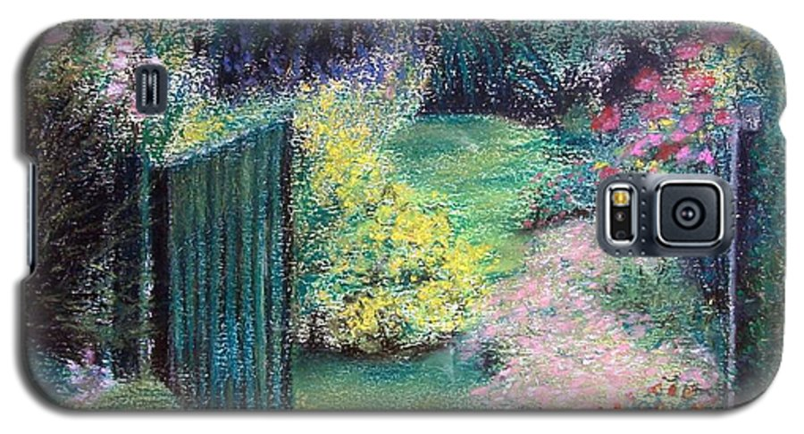Landscape Galaxy S5 Case featuring the painting Parc by Muriel Dolemieux