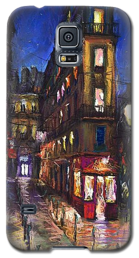 Landscape Galaxy S5 Case featuring the painting Paris Old Street by Yuriy Shevchuk