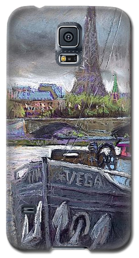 Pastel Galaxy S5 Case featuring the painting Paris Pont Alexandre IIi by Yuriy Shevchuk