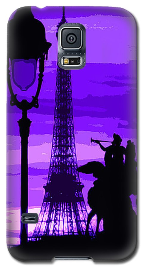Paris Galaxy S5 Case featuring the photograph Paris Tour Eiffel Violet by Yuriy Shevchuk