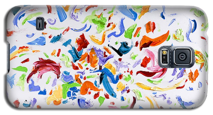 Red Galaxy S5 Case featuring the painting Party by Shannon Grissom
