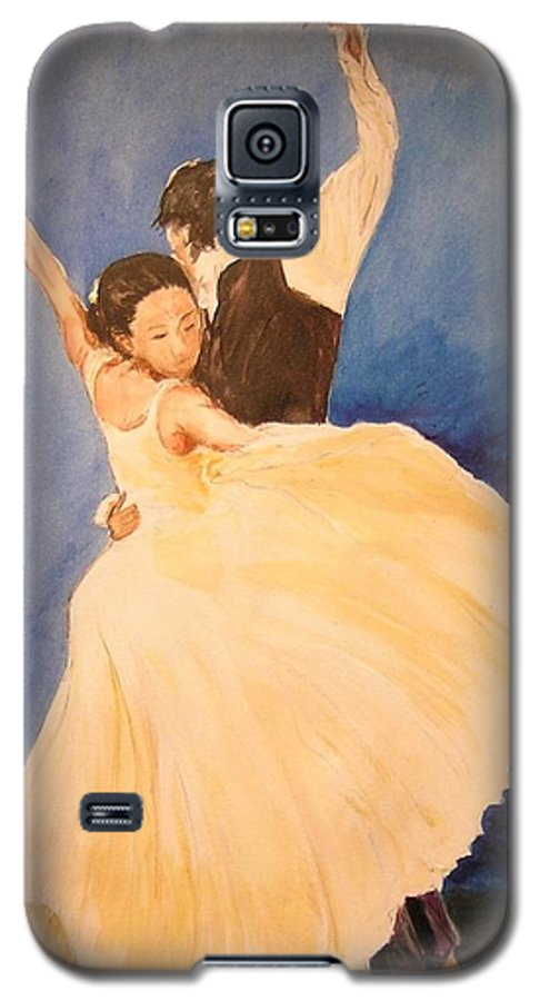 Spain Galaxy S5 Case featuring the painting Pasion Gitana by Lizzy Forrester