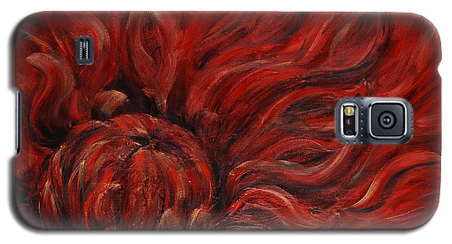 Flower Galaxy S5 Case featuring the painting Passion Iv by Nadine Rippelmeyer