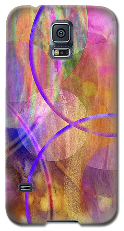 Pastel Planets Galaxy S5 Case featuring the digital art Pastel Planets by John Beck