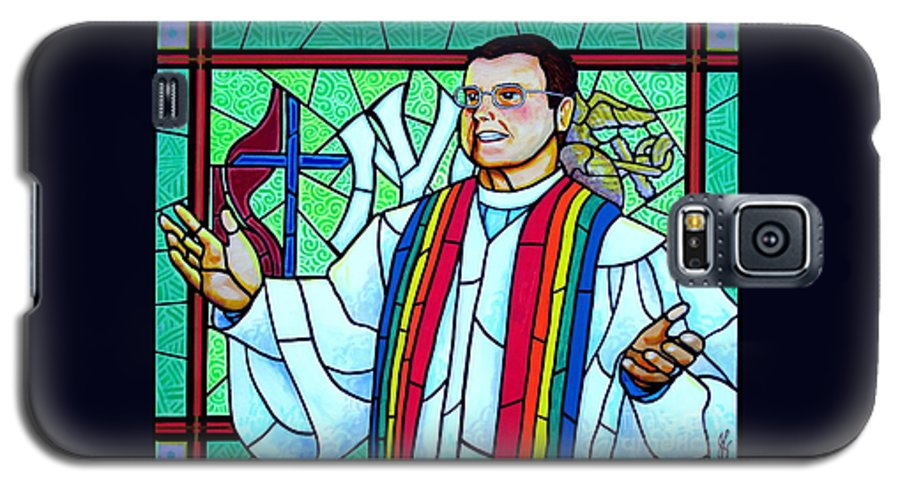 Pastor Galaxy S5 Case featuring the painting Pastor Charlie by Jim Harris