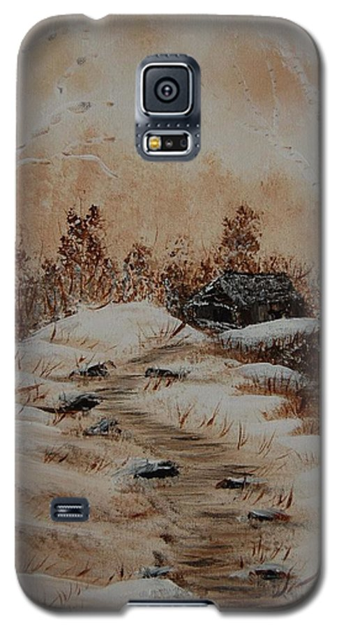Acrylics Galaxy S5 Case featuring the painting Pathway To Freedom by Laurie Kidd